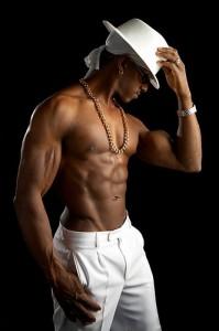 Mannelijke stripper Blackpearle